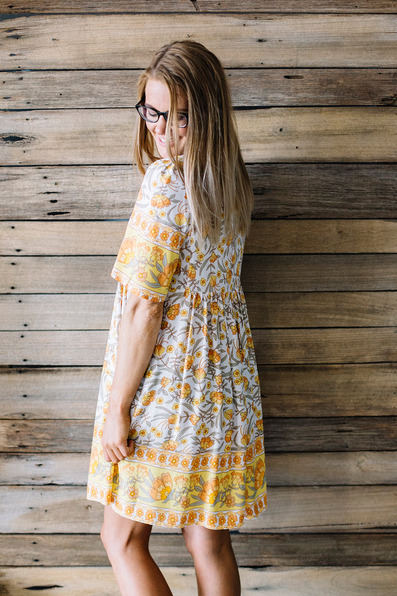 Pixie Floral Dress - yellow