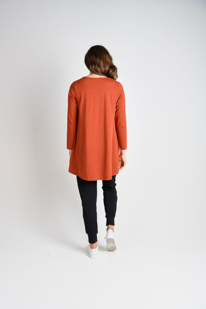 L/S Drop-back Tee - Rust