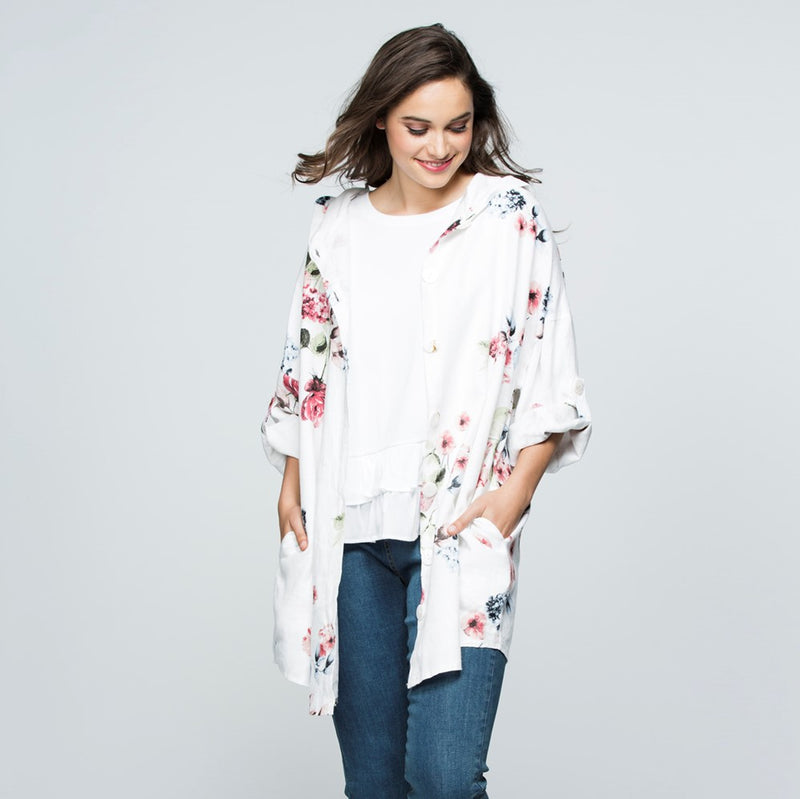 Threadz Floral Shirt Jacket