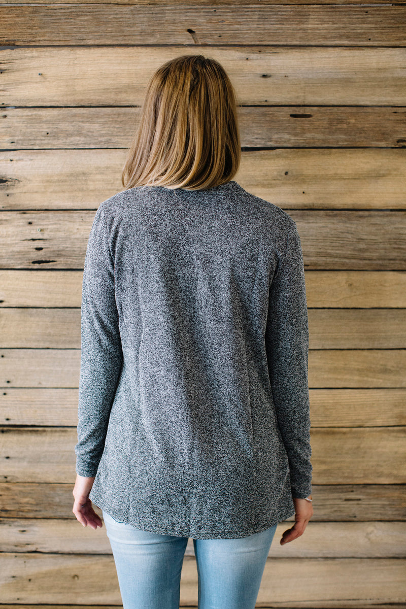 Spice Cardigan - Charcoal Marle