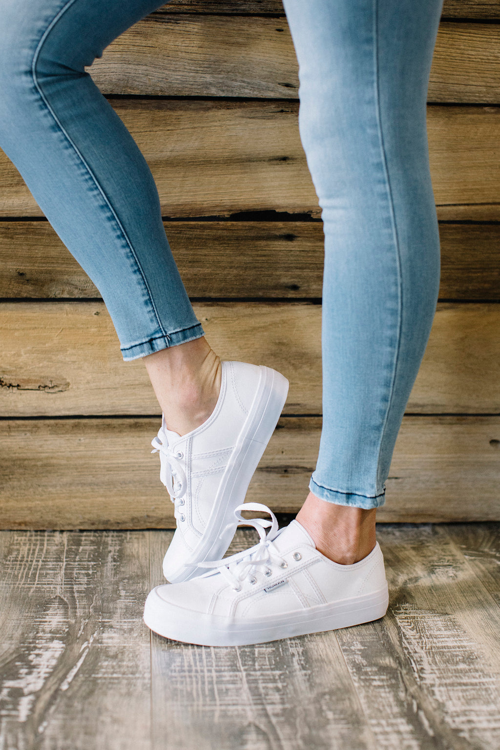Cass white leather sneaker