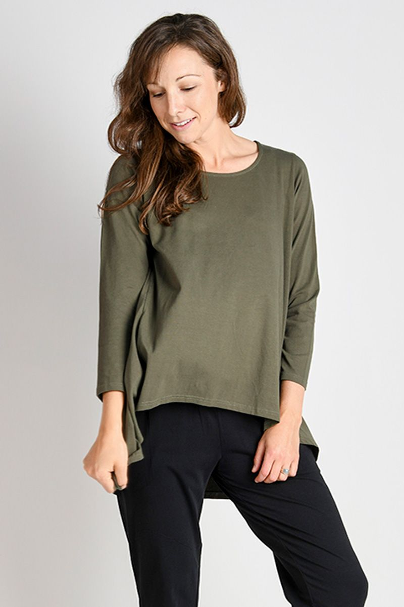 L/S Drop-back Tee - Khaki