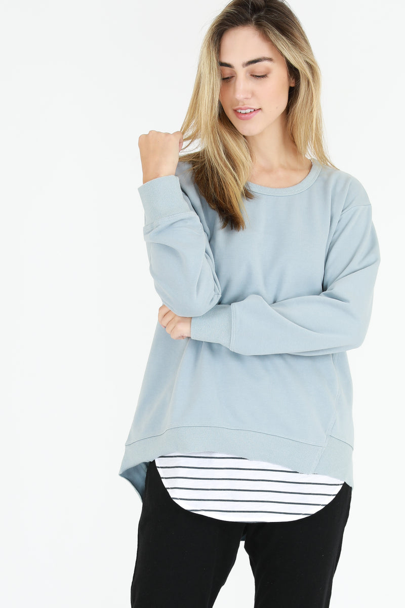 Newhaven Sweater Storm Blue