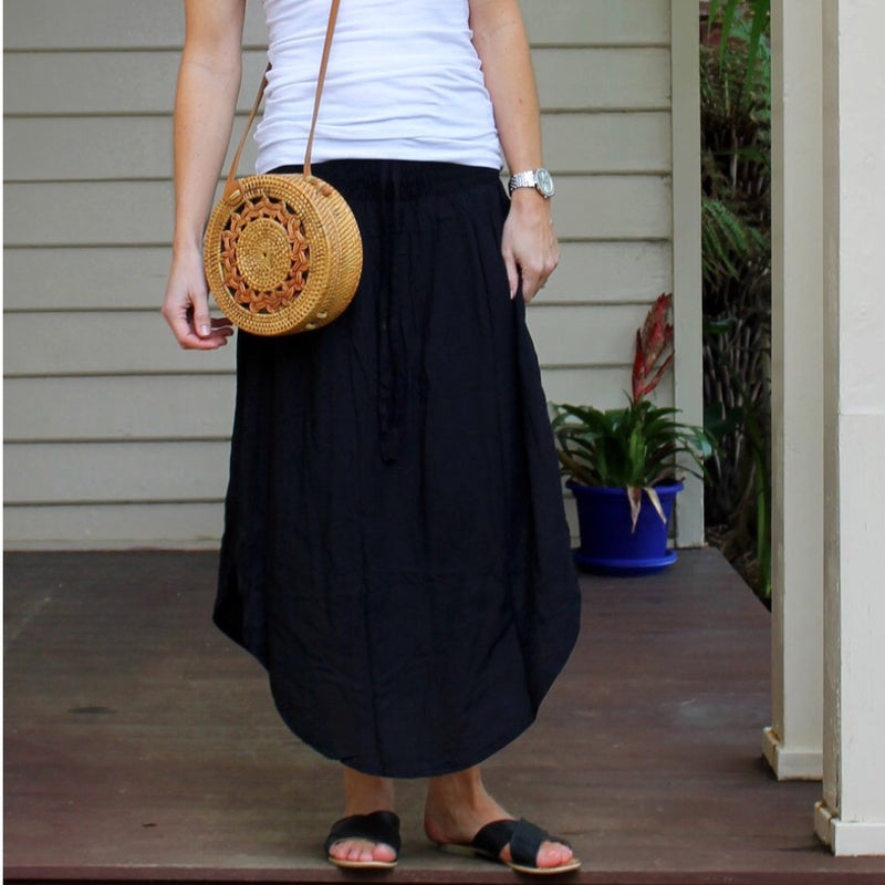 Samsara Black Maxi Skirt