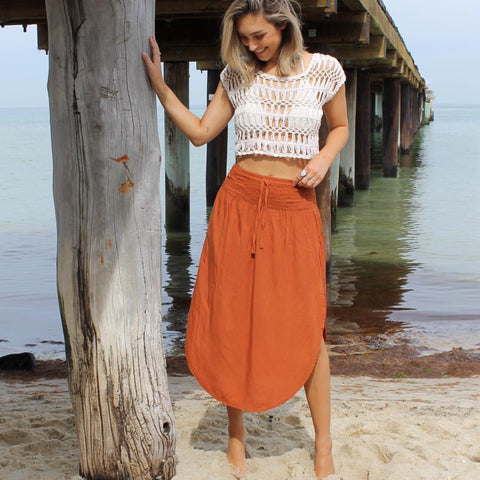 Spiced Ruffle Maxi Skirt