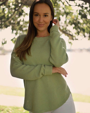 Hannah Sweater Sea Green