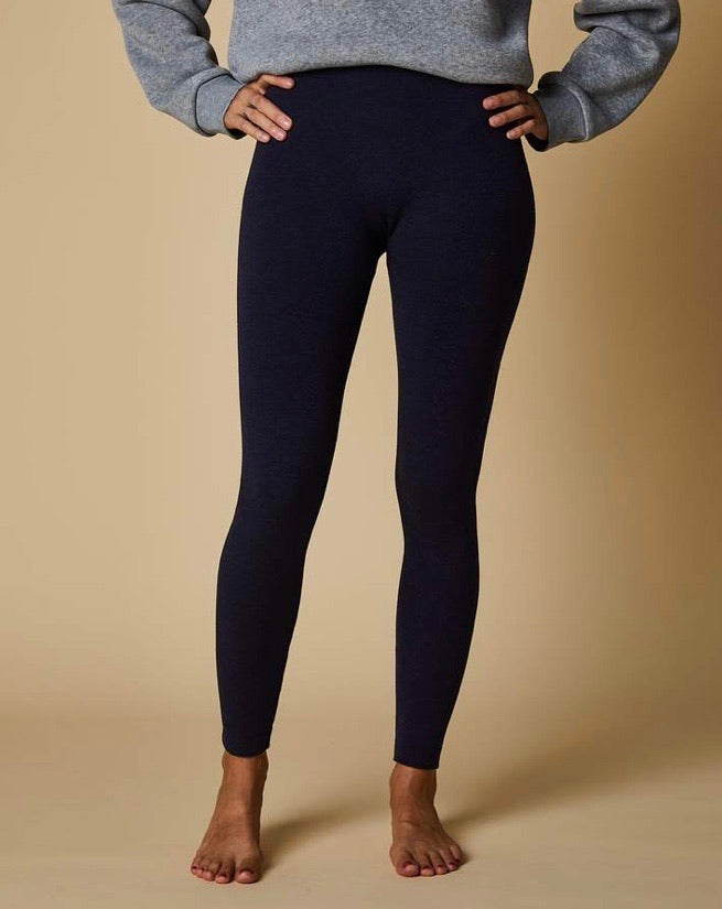 Marle Terry Fleece Leggings - Navy