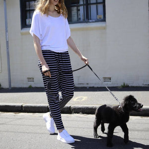 Jade Jogger Pants with Stripes