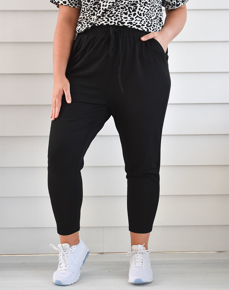 Janis Slouch Pants - Black