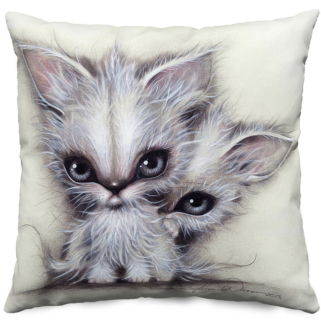 Fang and Taz Kilmouseki Throw Pillow