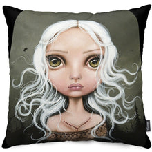 Jane Doe Throw Pillow