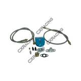 CXRacing - UNIVERSAL OIL FILTER + FEEDING LINE KIT , BRAIDED ALUMINUM FOR T3 T4 T04E T60 T61 T70 TURBO (TRB-Oil-)