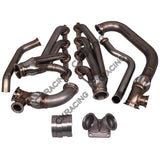 CXRacing - Turbo Manifold Header Kit For 05-13 Chevrolet Corvette C6 LS LS3 NA-T (MF-KIT-LS-C6-ONLY)