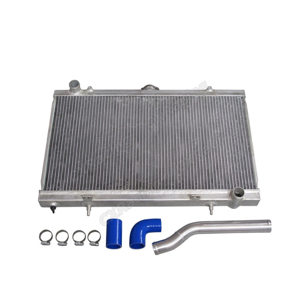 CXRacing - Radiator + Water Pipe Kit for 89-99 Nissan 240SX S13 S14 S15 1JZ-GTE 2JZ-GTE Swap (RAD-S13-12JZ-KIT)