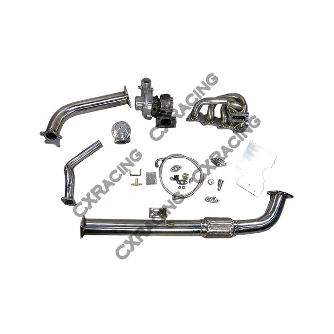 CXRacing - Top Mount T04E Turbo Kit + Intercooler For 240SX S13 S14 KA24DE (TRB-KIT-KA24DE-T04E-IC-KIT)