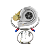 CXRacing - DUAL BALL BEARING T61 TURBO CHARGER W/ OIL FITTING FOR 86-92 SUPRA MK3 7MGTE (TRB-T61-RR-OIL-KIT)