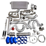 CXRacing - Turbo Header Manifold Intercooler Kit For 79-93 Ford Mustang V8 5.0 NA-T T76 (TRB-KIT-MUSTANG-50-NEW-T76-IC)