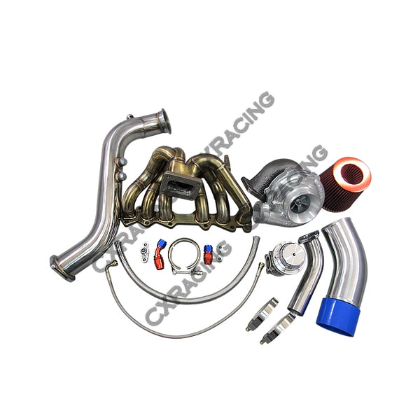 CXRacing - T70 Turbo Kit Manifold Downpipe For 1JZGTE 1JZ-GTE GS300 SC300 Supra (TRB-KIT-MF-DP-1JZGTE-WT-T70-AI)