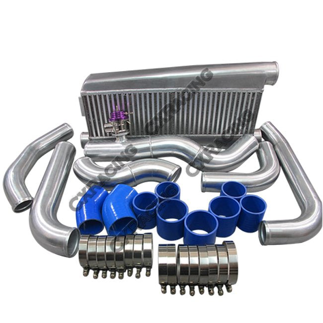 CXRacing - FMIC Intercooler Kit For 79-93 Fox Body Ford Mustang V8 5.0 Twin Turbo T04E (KIT-MUSTANG-50-TT-200-IC0012-BOV009)