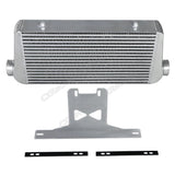"CXRacing - 4"" Core Intercooler + Mounting Bracket Kit For 2015 + Ford Mustang GT V8 5.0 (BRK-IC-MUSTANG15-IC0023)"