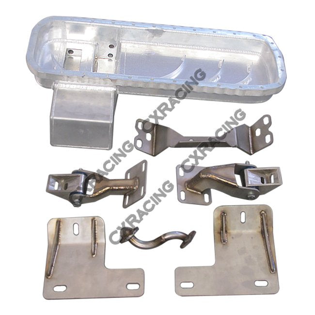 CXRacing - RB25DET Oil Pan Motor Transmission Mount Kit For Nissan 300ZX Z32 RB25 (ESK-OP-RB25-300ZX-KIT)