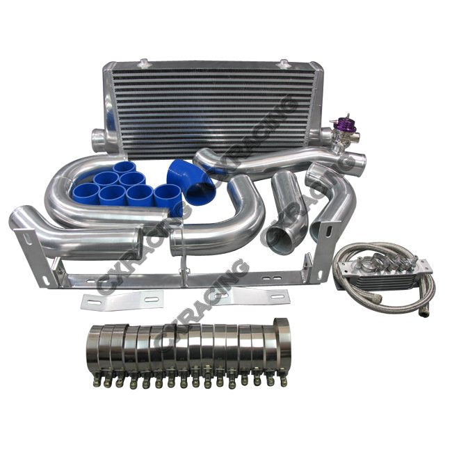 CXRacing - Front Mount Intercooler Kit For 96-04 Ford Mustang 4.6L V8 with Supercharger (KIT-MSTG-9604-46SC-IC0022-BOV-OC)