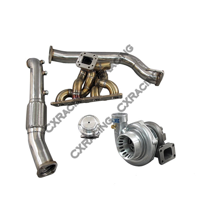 CXRacing - TOP MOUNT GT35 TURBO MANIFOLD DOWNPIPE KIT FOR 08+ GENESIS COUP 2.0T GC (TRB-KIT-GENESIS-GT35-2-NO-IC)