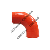 "CXRacing - 1.5"" 90 DEG RED SILICON HOSE COUPLER FOR TURBO INTERCOOLER PIPE (SH150-3R-90-65)"