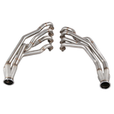 CXRacing - New Version Headers + Y Exhaust Pipes For 240SX S13/S14 LS1 LS Engine (HD-LS1-MID-Y-S13-NEW)