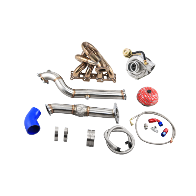 CXRacing - T3 TURBO MANIFOLD DOWNPIPE KIT FOR 99-05 MIATA NB 1.8L ENGINE (TRB-KIT-18-MIATA9905-WT-NO-IC)