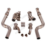 CXRacing - Bottom Mount Twin Turbo Header Downpipe Kit For 2015+ Ford Mustang GT 5.0 (MF-KIT-50-MUSTANG15-ONLY)