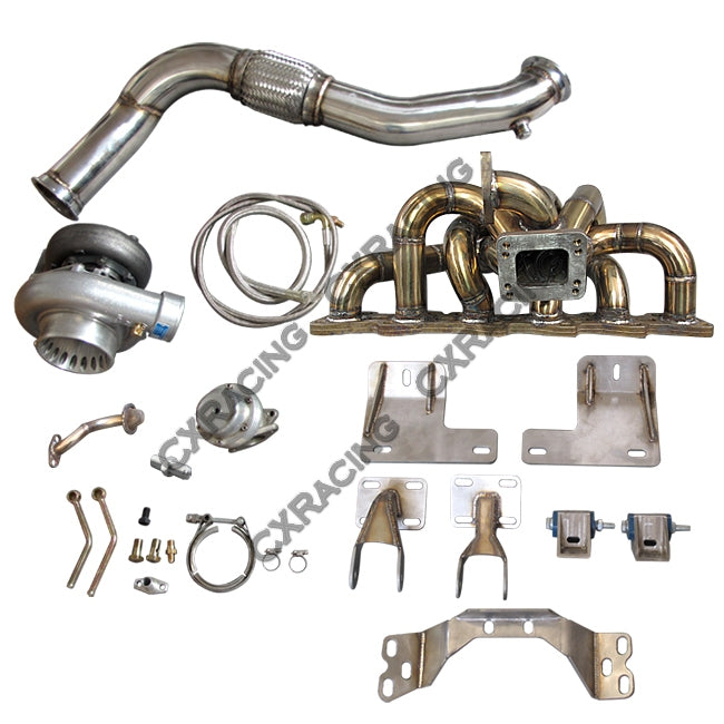 CXRacing - RB25DET Turbo Manifold Downpipe Engine Transmission Mount For  300ZX Z32 (TRB-KIT-RB25-Z32-ESK-NO-IC)