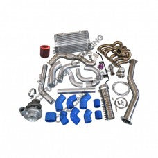 CXRacing - TURBO INTERCOOLER KIT MANIFOLD DOWNPIPE FOR 98-05 LEXUS IS300 2JZ-GE NA-T (TRB-KIT-2JZGE-IS300-IC)