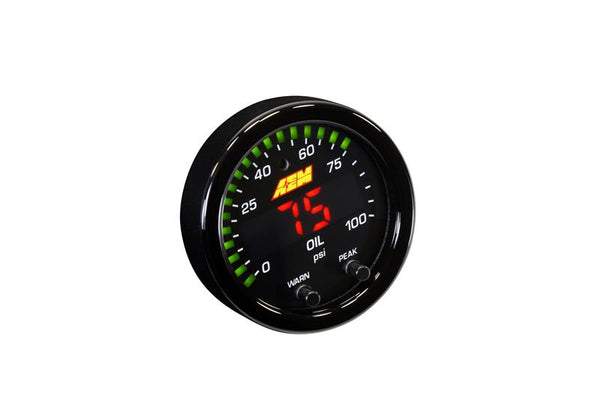 AEM - X-SERIES OIL/FUEL PRESSURE GAUGE