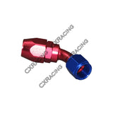 CXRacing - AN 6 AN6 45 DEGREE SWIVEL OIL/FUEL HOSE END ALUMINUM OIL FITTING (OF-AN6-45)