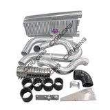 CXRacing - Complete Bolt On FMIC Intercooler Kit For 79-93 Fox Body Ford Mustang V8 5.0 (KIT-MUSTANG50-IC0012-A-BOV009)