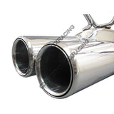 CXRacing - DUAL Tip Cat-back Exhaust System For 89-94 240SX S13 SILVIA (CB-S13-DUAL)