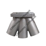 CXRacing - CAST STAINLESS STEEL 6-1 TURBO HEADER MANIFOLD MERGE COLLECTOR T3 T4 (MC-61-45-T3T4-FLNG-CAST)