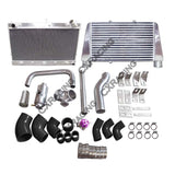 CXRacing - V-M Intercooler Radiator Kit for RB25DET Engine 300ZX Z32 RB25 Top Mount (KIT-RB-Z32-V1-IC0002-C-RAD)