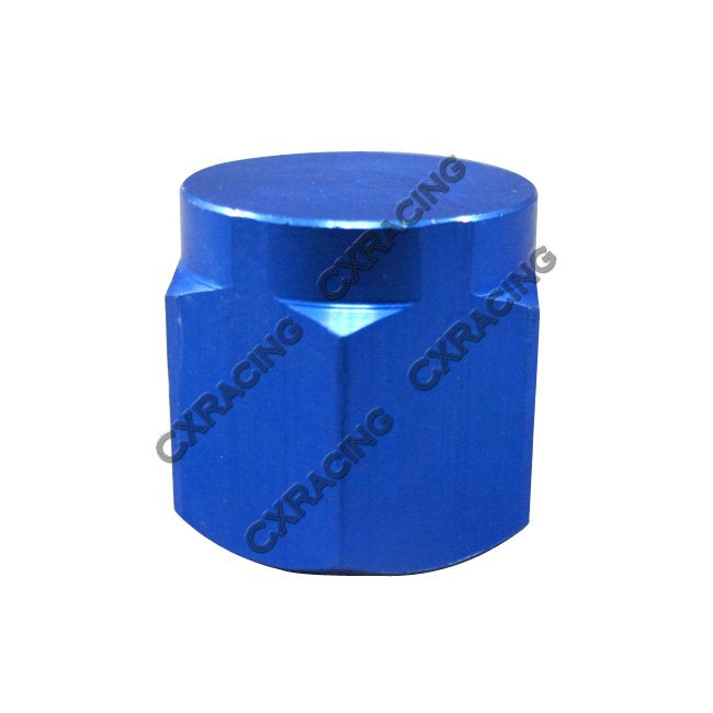 CXRacing - ANODIZED ALUMINUM FLARE OIL FITTING AN 12 CAP BLOCK OFF AN12 12AN BLUE (OF-AN12-CAP)