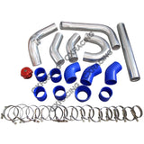 CXRacing - Turbo Header Manifold Intercooler Kit For 79-93 Ford Mustang V8 5.0 NA-T T70 (TRB-KIT-MUSTANG-50-NEW-T70-IC)