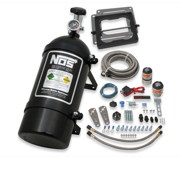 Nitrous Oxide System - NOS Powershot Nitrous System Kit Universal w/o Injector Plate [10 lb. Black Bottle] (05000BNOS)