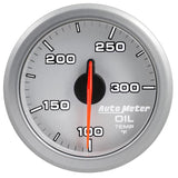 "AutoMeter - 2-1/16"" OIL TEMP, 100-300 °F, AIR-CORE, AIRDRIVE, SILVER (9140-UL)"