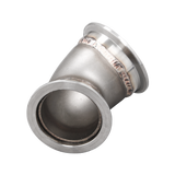 "CXRacing - 3""-2.5"" CAST STAINLESS STEEL 45 DEGREE REDUCER ELBOW PIPE VBAND FLANGE (EB300R250-45-CAST-SS-VB)"