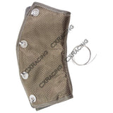 "CXRacing - TITANIUM HEAT WRAP HEATSHIELD 2.5"" 45 DEG FOR HEADER DOWNPIPE TURBO EXHAUST (WRAP-250-45)"