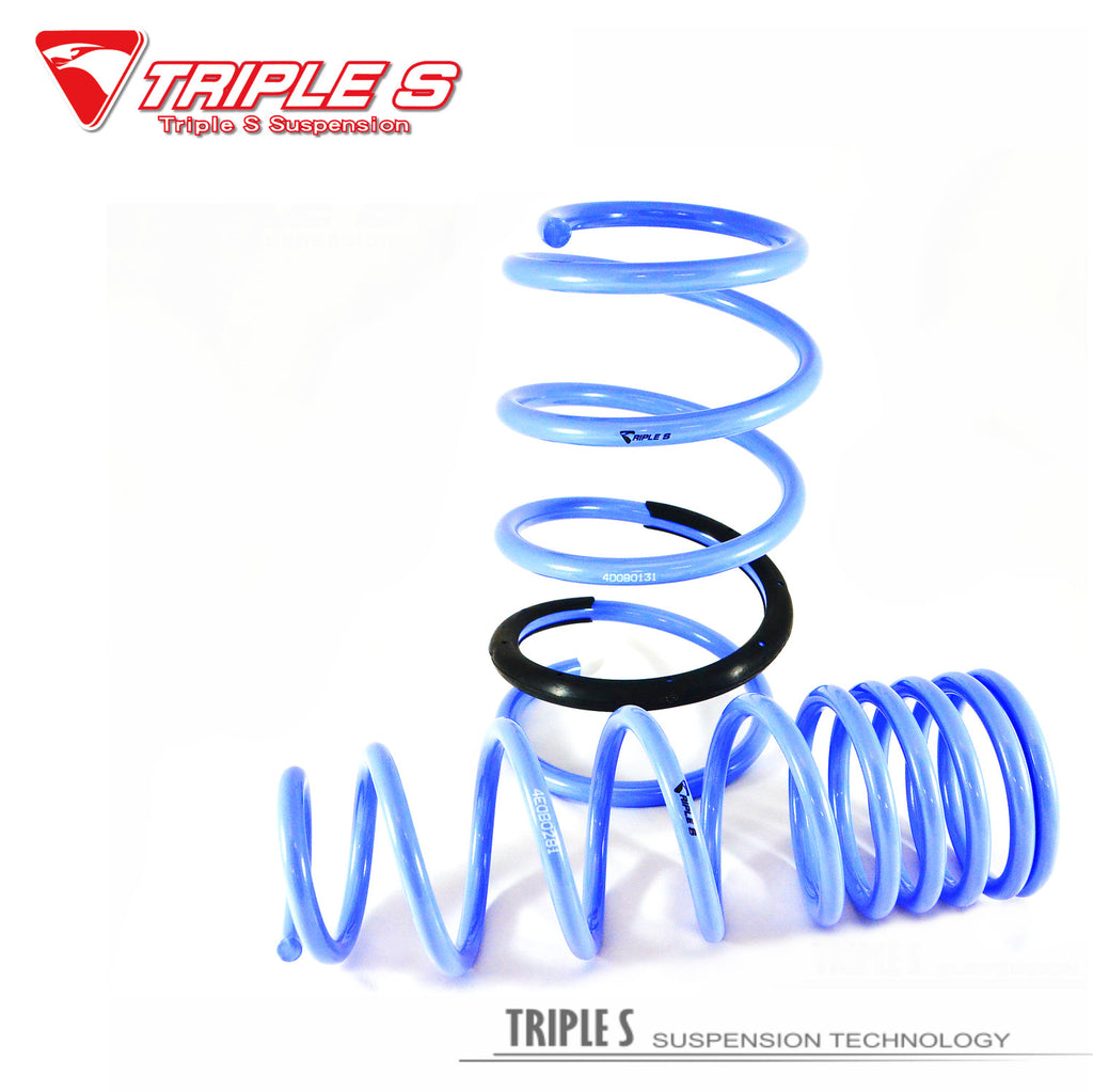 ISC Suspension - Ford Mustang S550 Triple S Lowering Springs (ISC-TSLS-PONY)