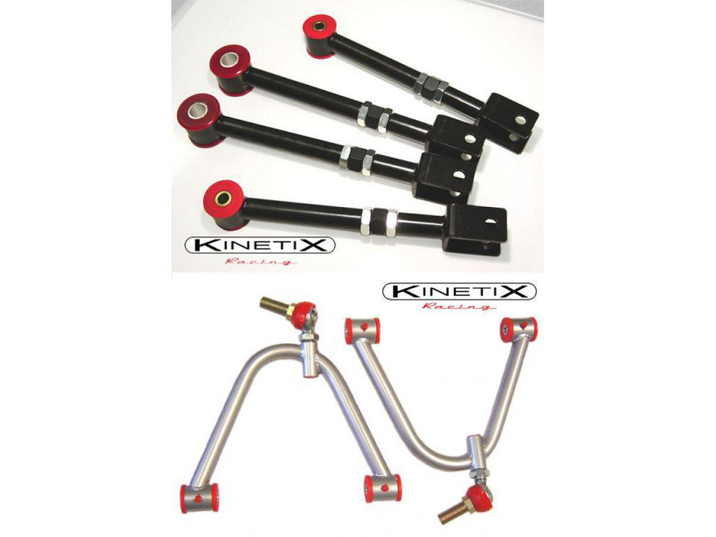 Kinetix - 350Z/G35 Front A-Arm , Rear Camber/Traction Arm PACKAGE (PCSK06)