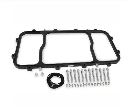 Nitrous Oxide System - NOS Dry Nitrous Injector Plate for GM LS with Holley Hi-Ram Intake Manifold (12535BNOS)