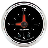 "AutoMeter - 2-1/16"" CLOCK, 12 HOUR, DESIGNER BLACK II (1285)"