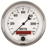 "AutoMeter - 3-3/8"" SPEEDOMETER, 0-120 MPH, ELECTRIC, OLD-TYME WHITE II (1287)"